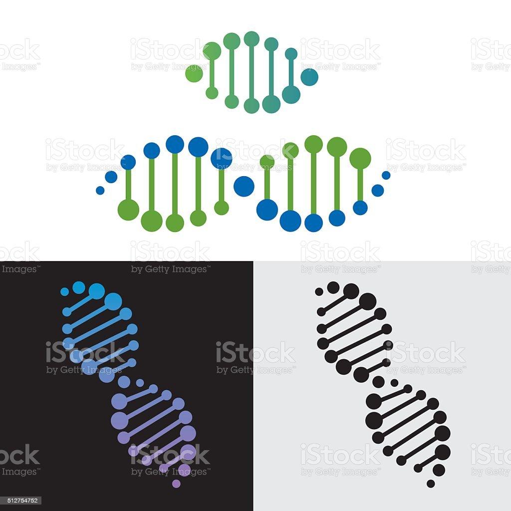 DNA gene vector art illustration