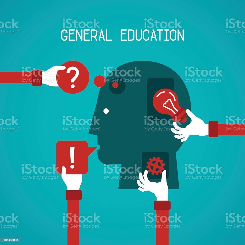 General education and creativity vector concept vector art illustration