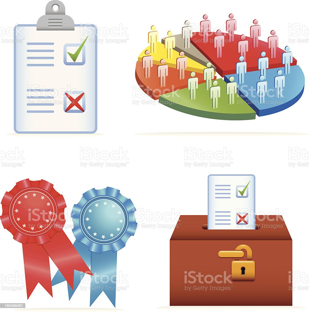 General Election & Voting Icons royalty-free stock vector art