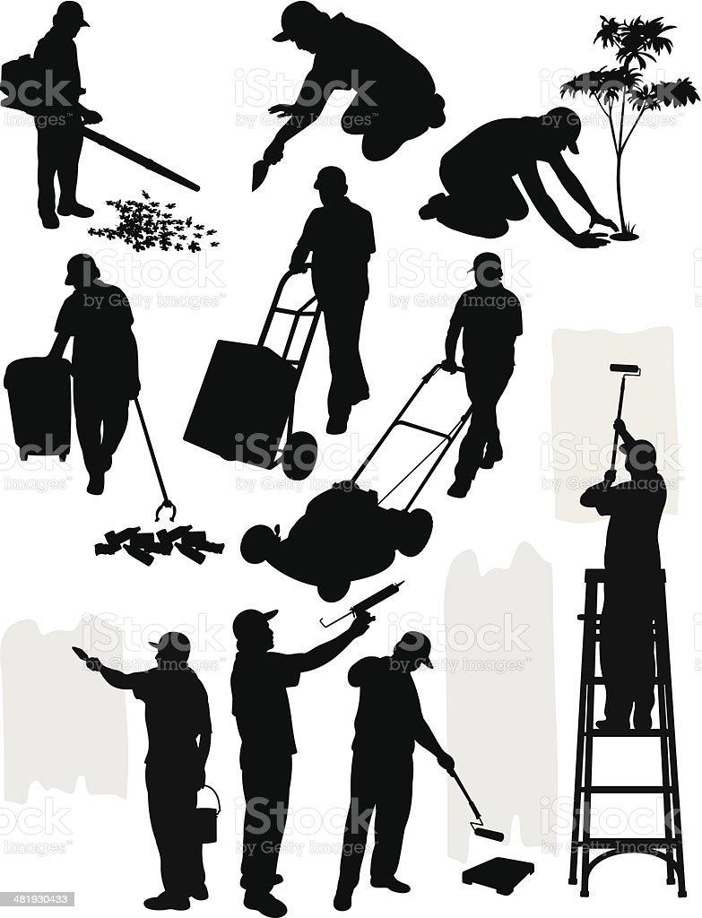 General Handyman vector art illustration