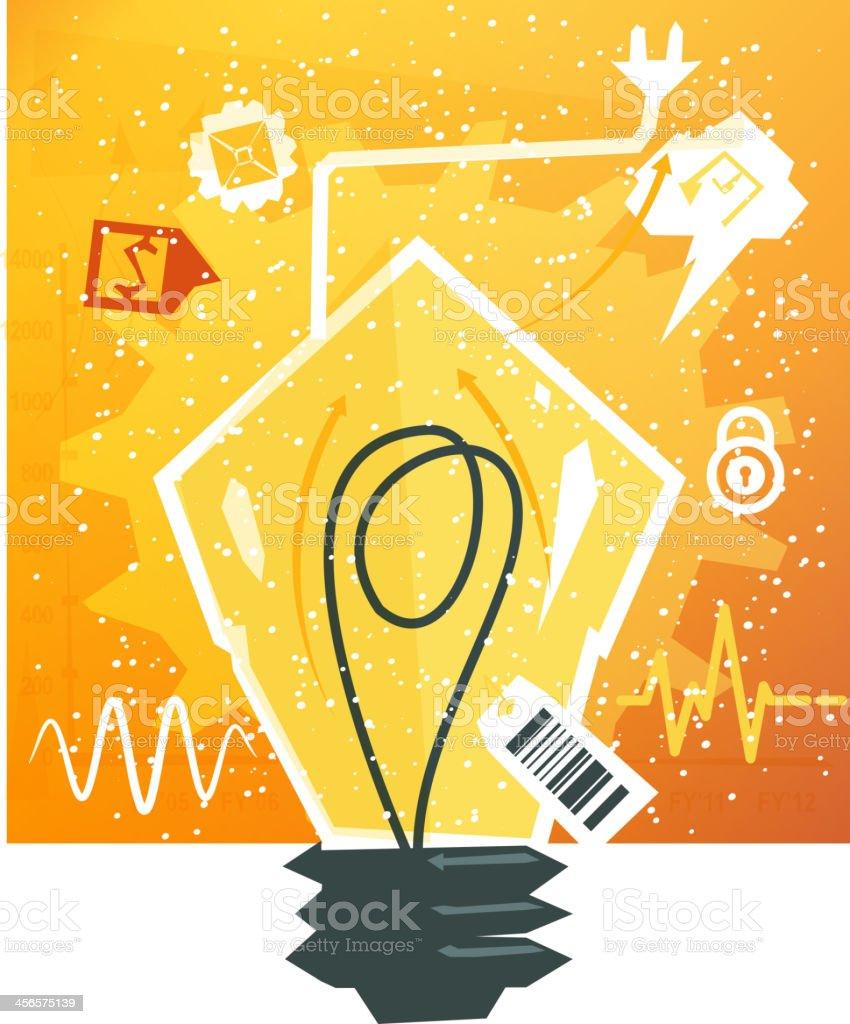 Generating Business Ideas - Illustration royalty-free stock vector art