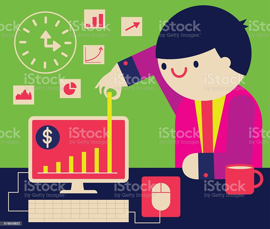 Generating Profits vector art illustration