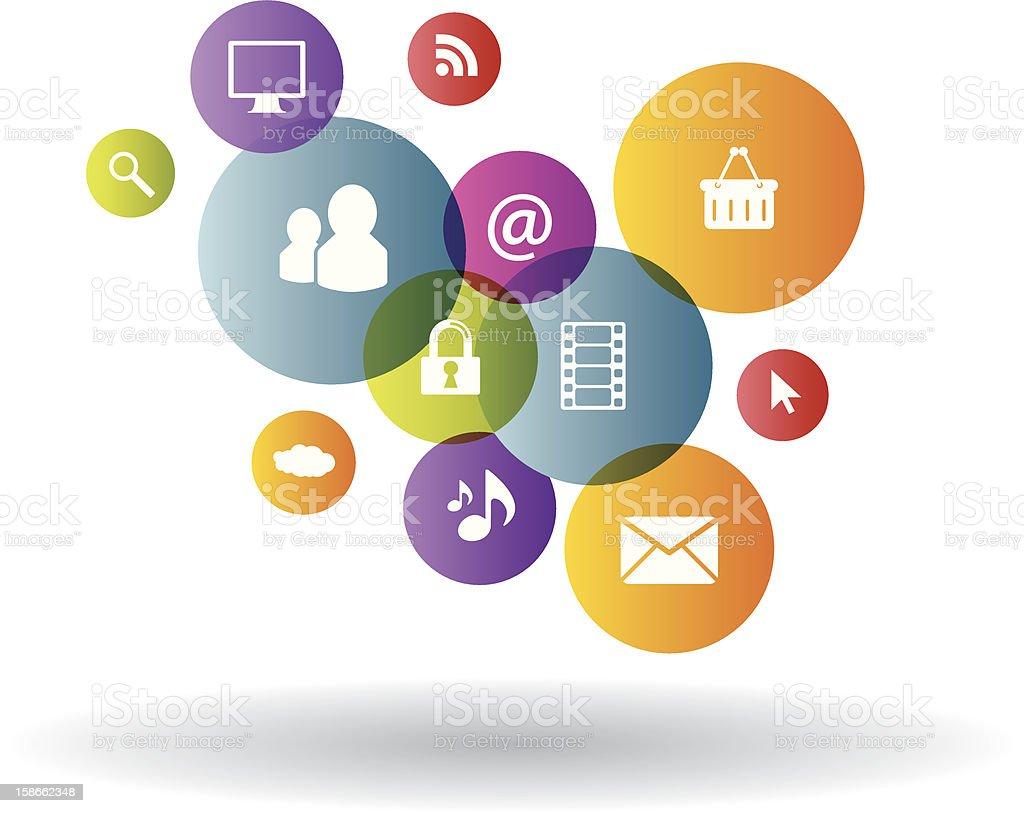 Generation business in social media royalty-free stock vector art