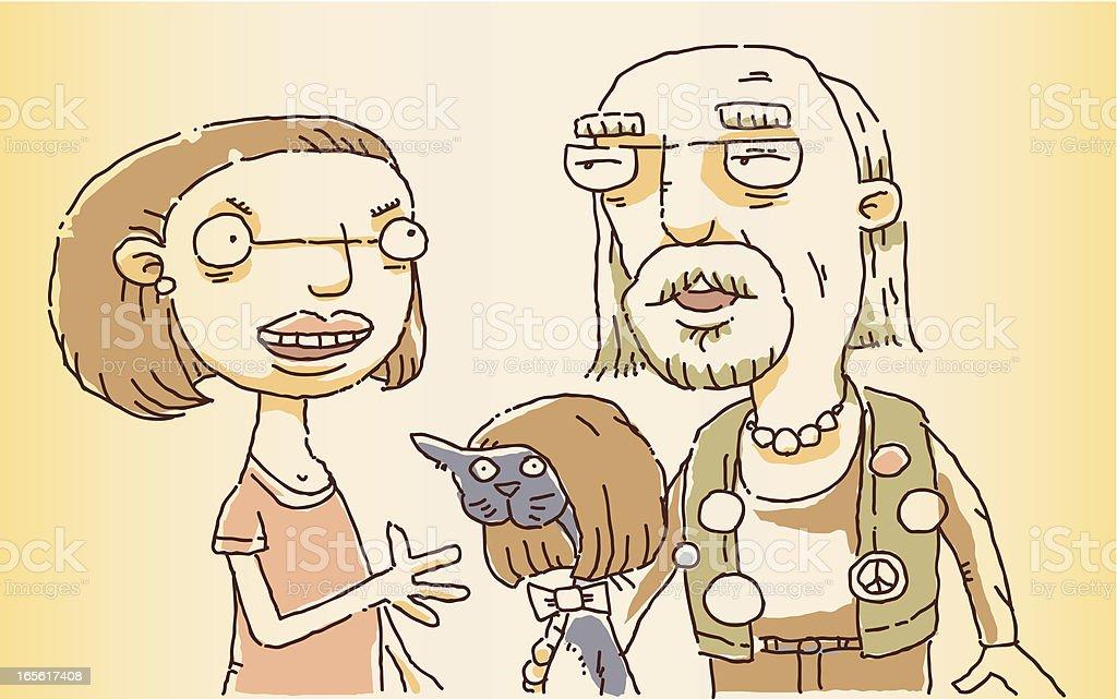Generation Gap vector art illustration
