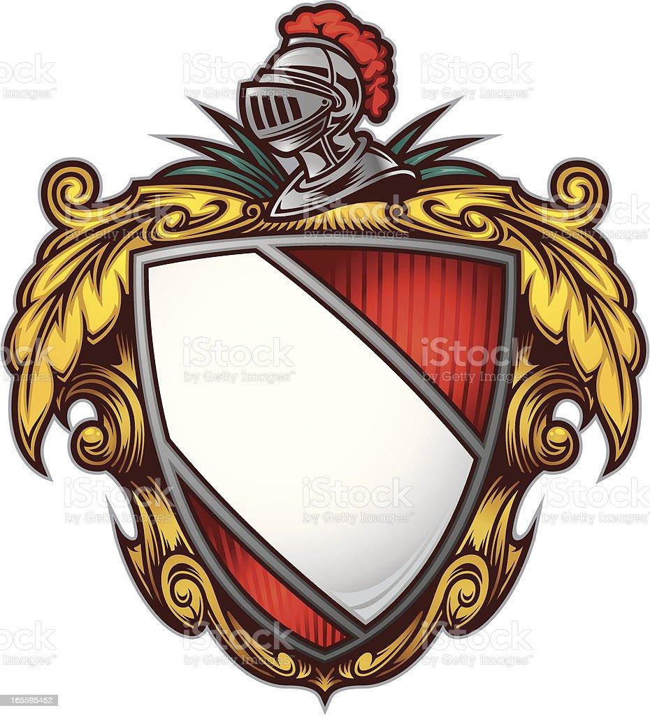 Generic Crest royalty-free stock vector art