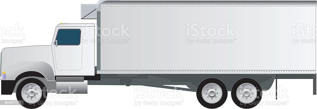 Generic Delivery Truck royalty-free stock vector art