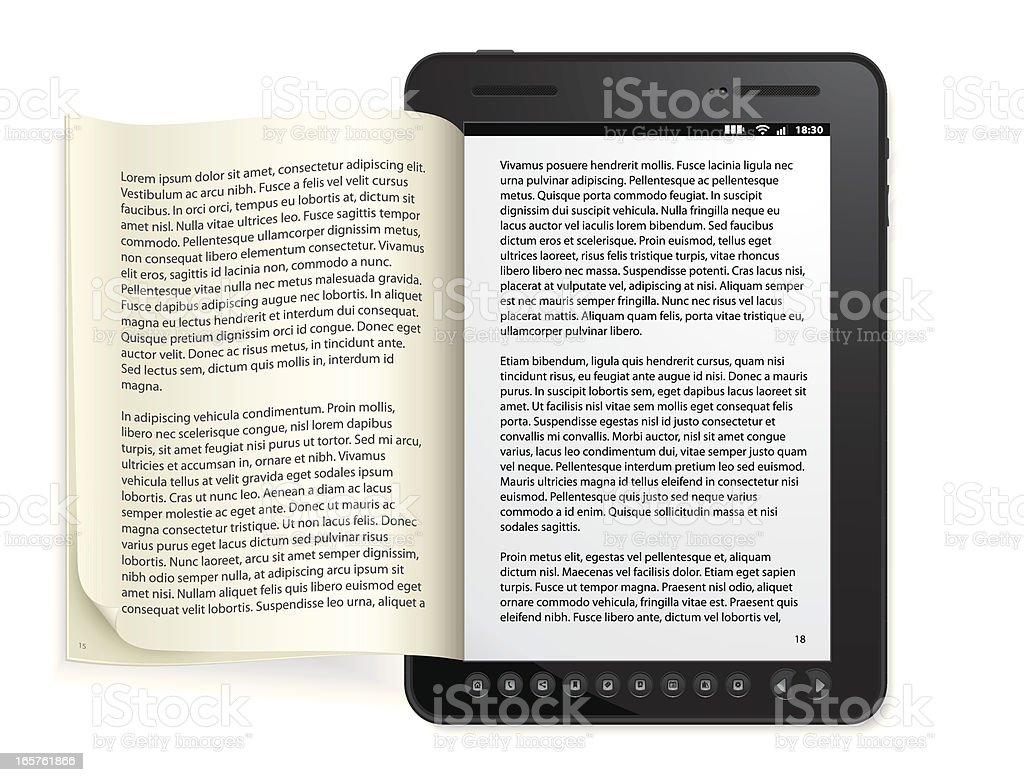 Generic e-book Reader Concept vector art illustration