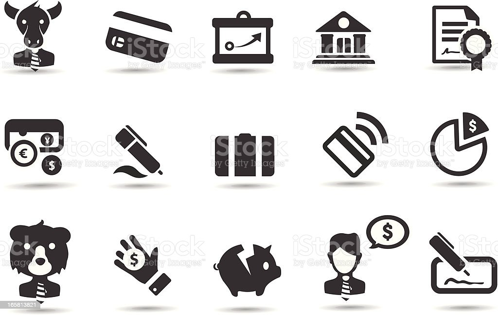 Generic Finance Icons royalty-free stock vector art