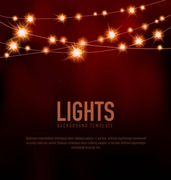 String Lights Party Clip Art, Vector Images & Illustrations - iStock