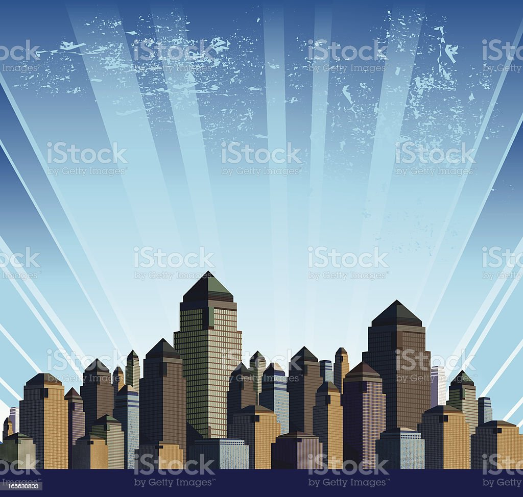 Generic Modern City vector art illustration
