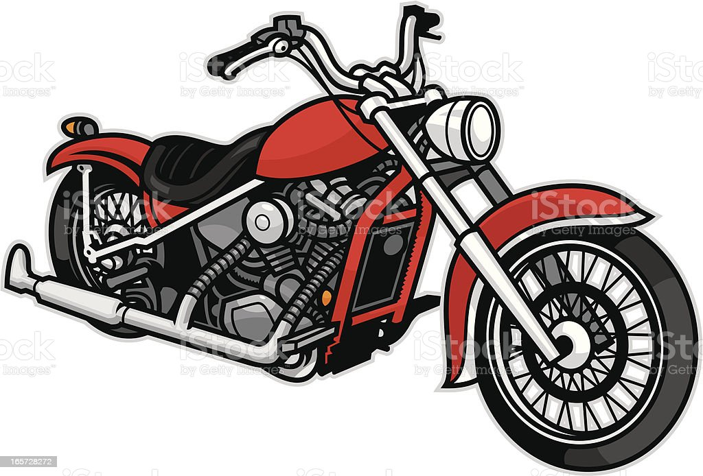 Generic Motorcycle vector art illustration
