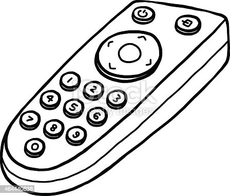 Generic Remote Control Drawing stock vector art 464440838