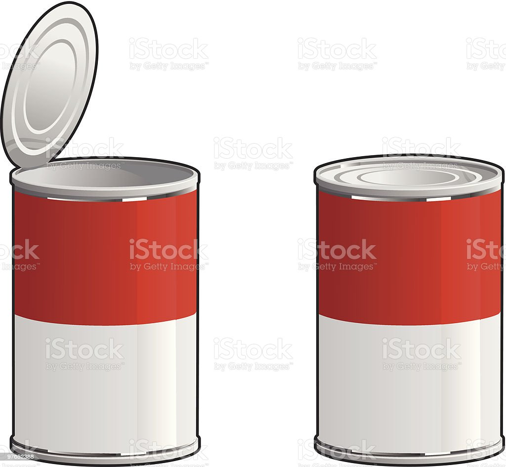 Generic Soup Can royalty-free stock vector art