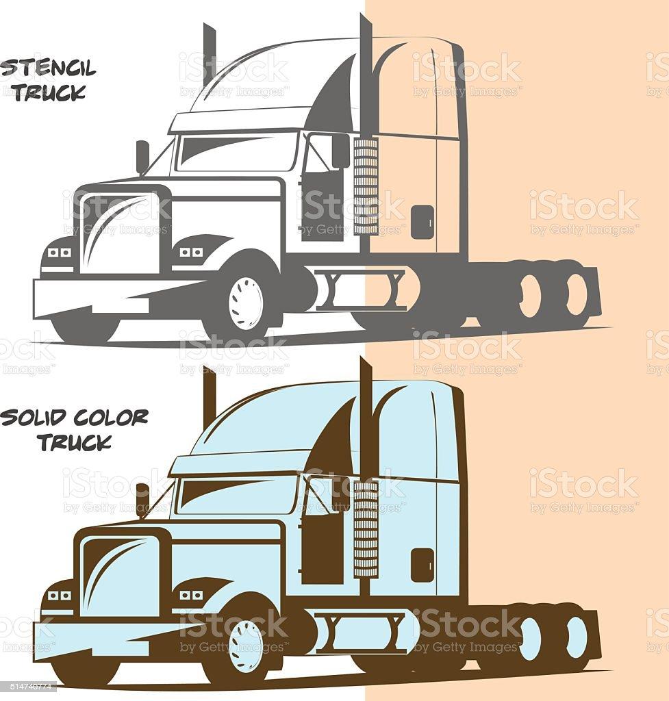 Generic truck vector art illustration