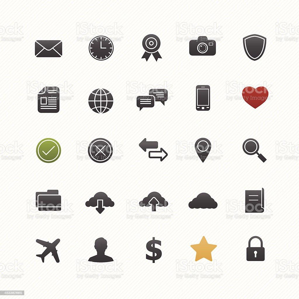 Generic vector symbol icon set vector art illustration