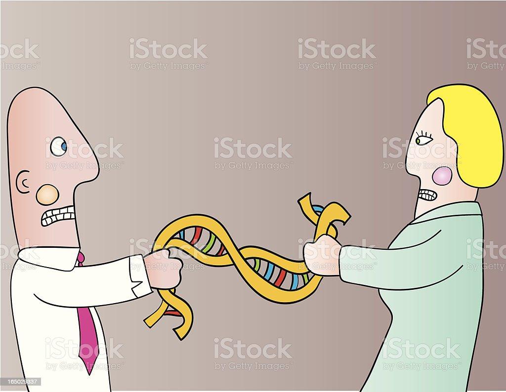 genetic code fight royalty-free stock vector art
