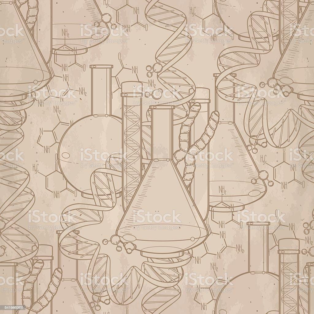 Genetic research pattern vector art illustration