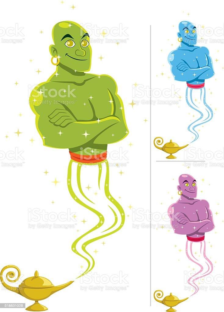 Genie vector art illustration