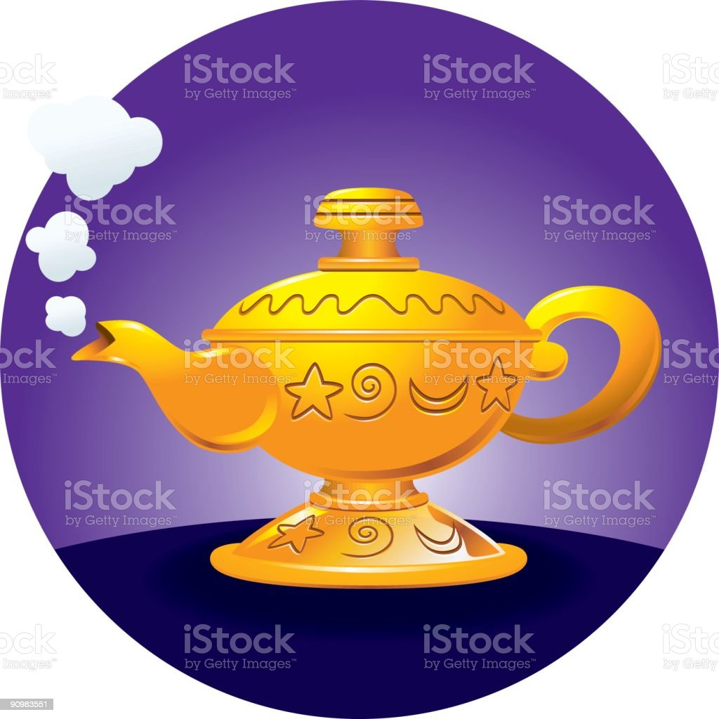 Genie's Lamp royalty-free stock vector art