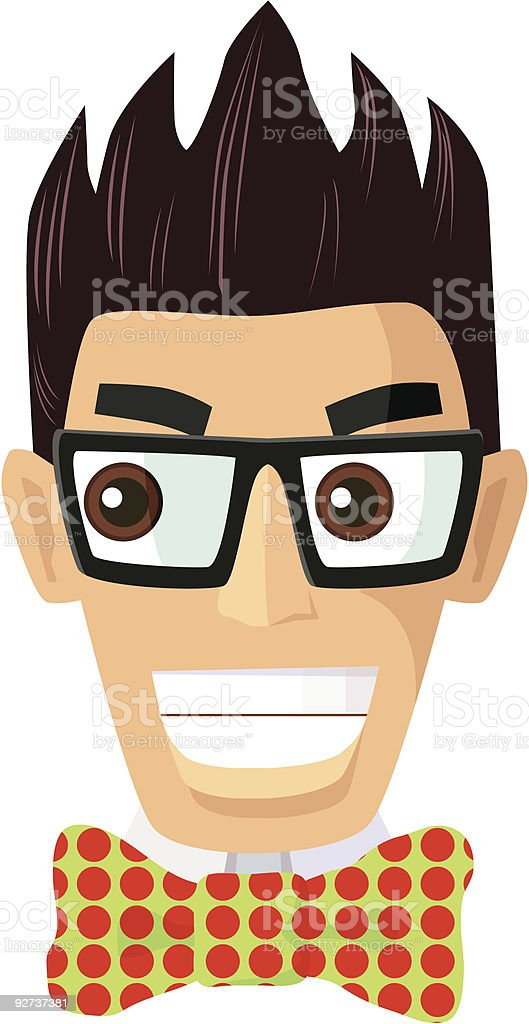 Genius Geeky Nerdy Vector royalty-free stock vector art