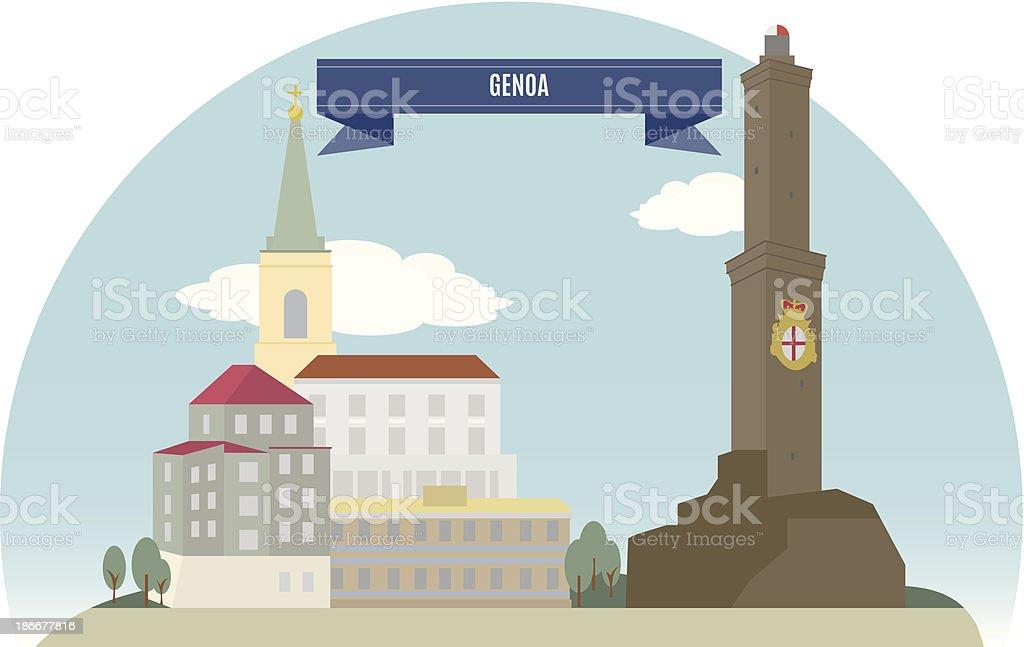Genoa vector art illustration