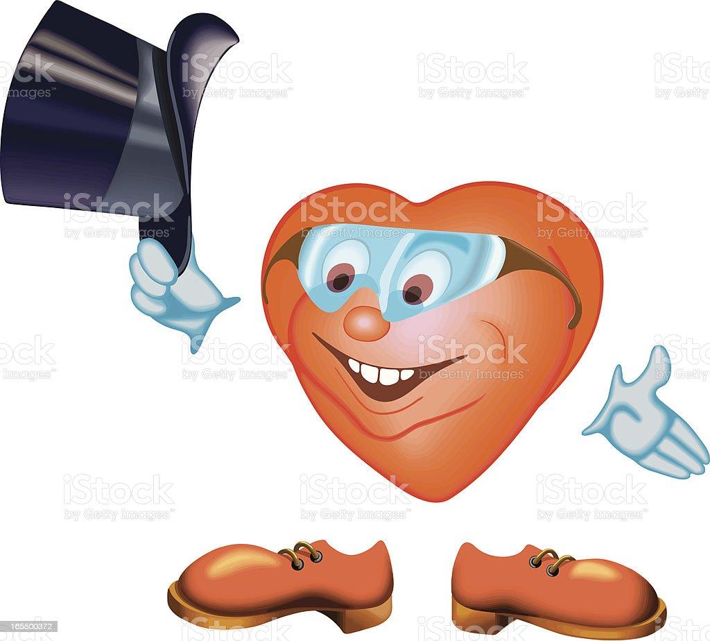 gentelman smiley heart royalty-free stock vector art