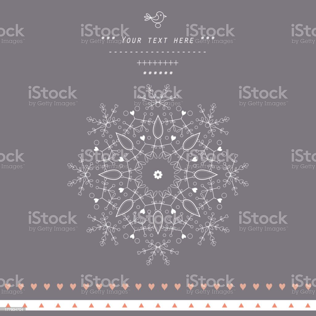 Gentle decor royalty-free stock vector art
