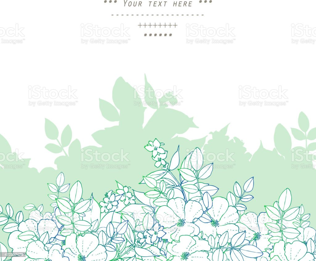 A gentle floral decor template royalty-free stock vector art