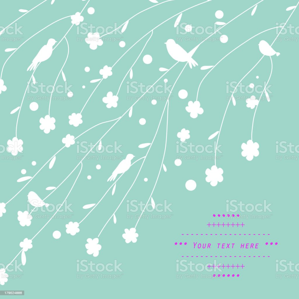 Gentle floral decor royalty-free stock vector art