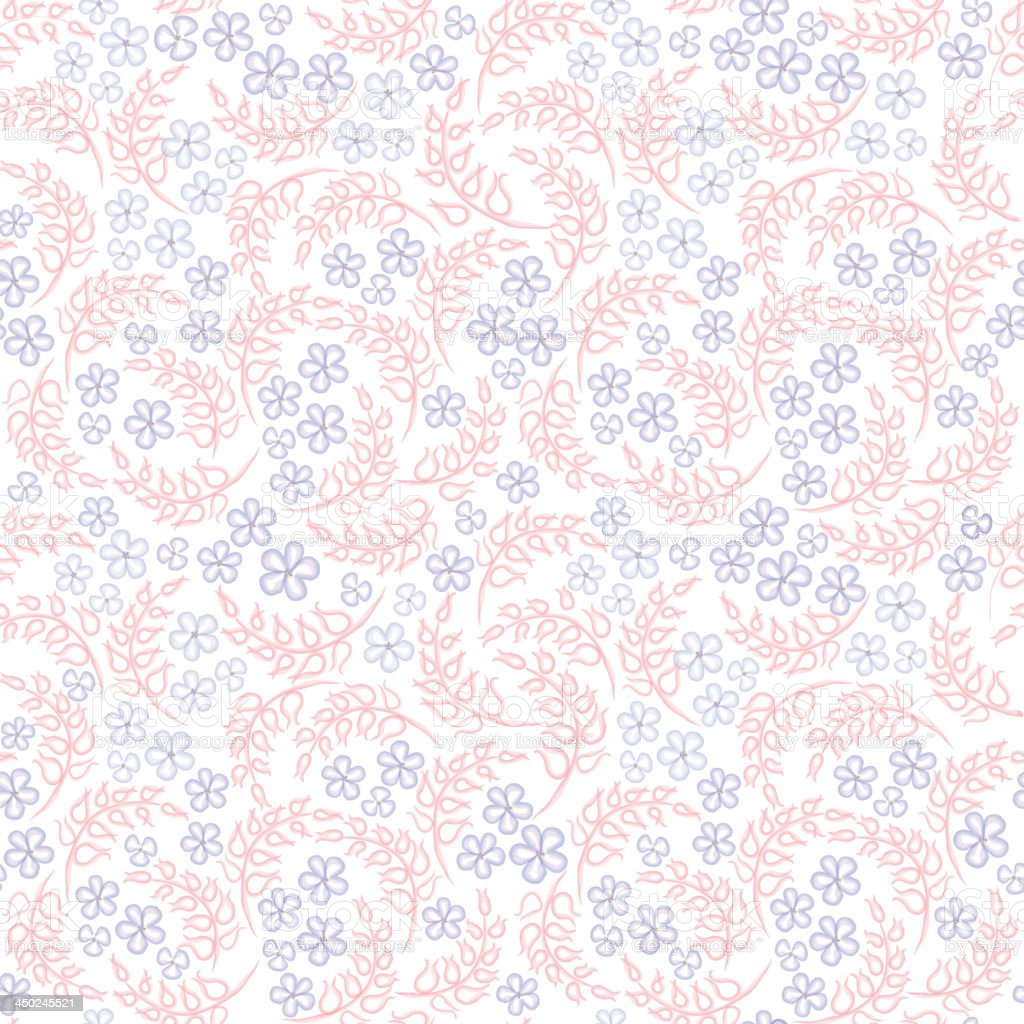 Gentle floral seamless background. royalty-free stock vector art