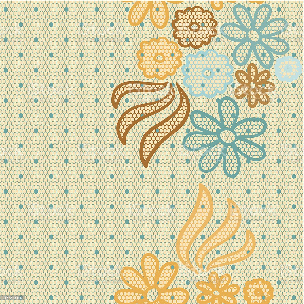 Gentle lace vector fabric seamless pattern royalty-free stock vector art