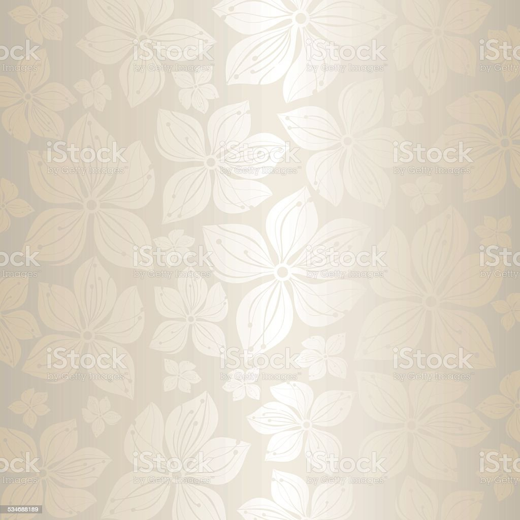 Gentle pale floral wedding invitation background vector art illustration