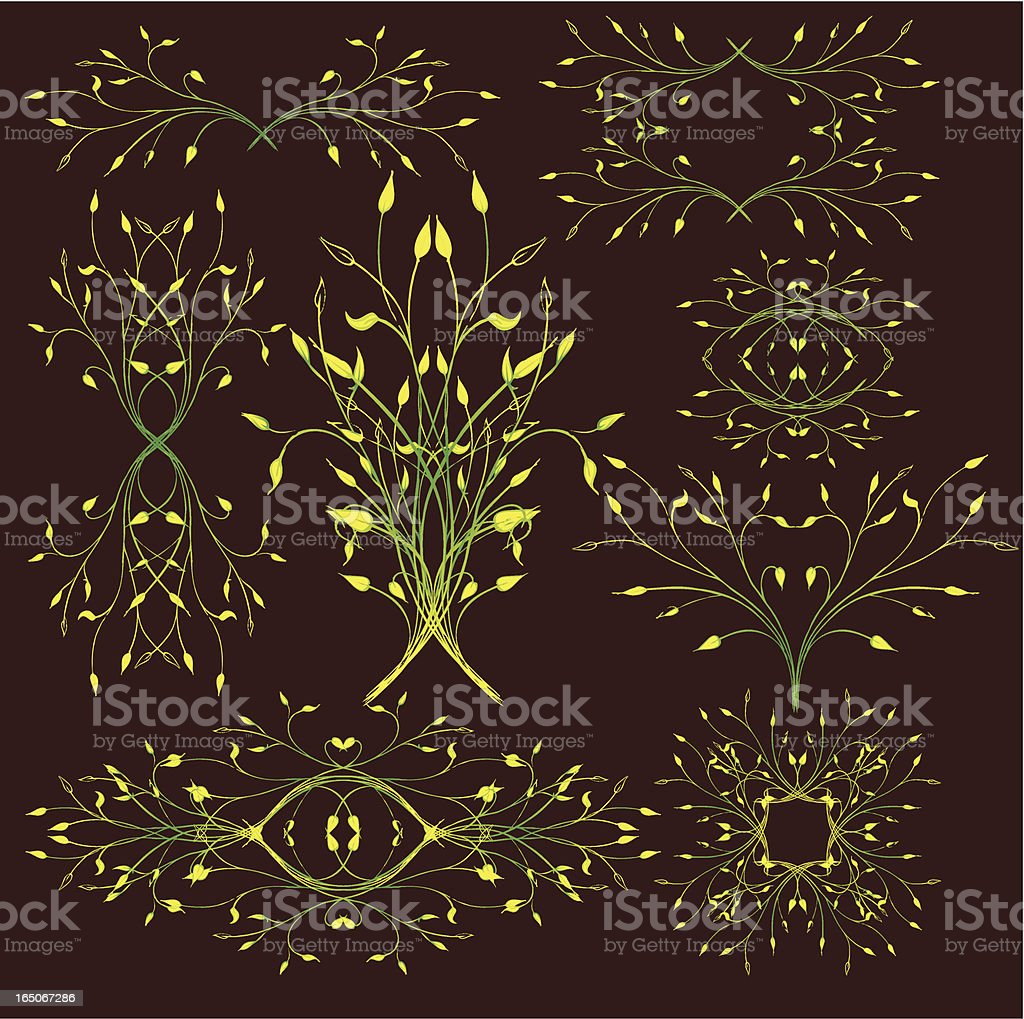 gentle spring plants royalty-free stock vector art