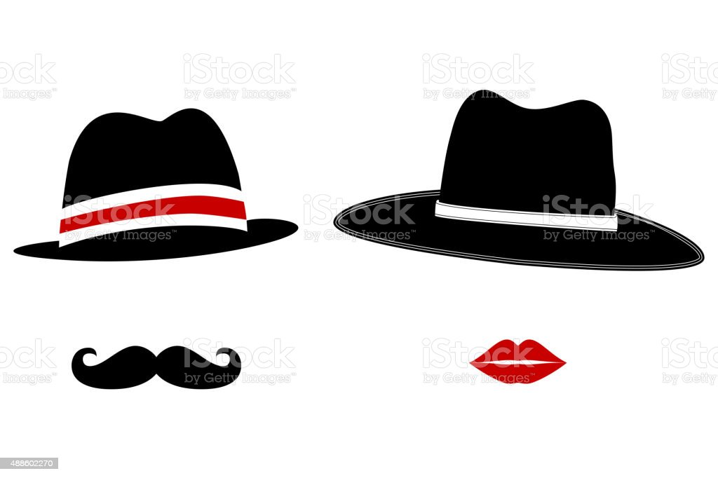 Gentleman and Lady Symbols vector art illustration