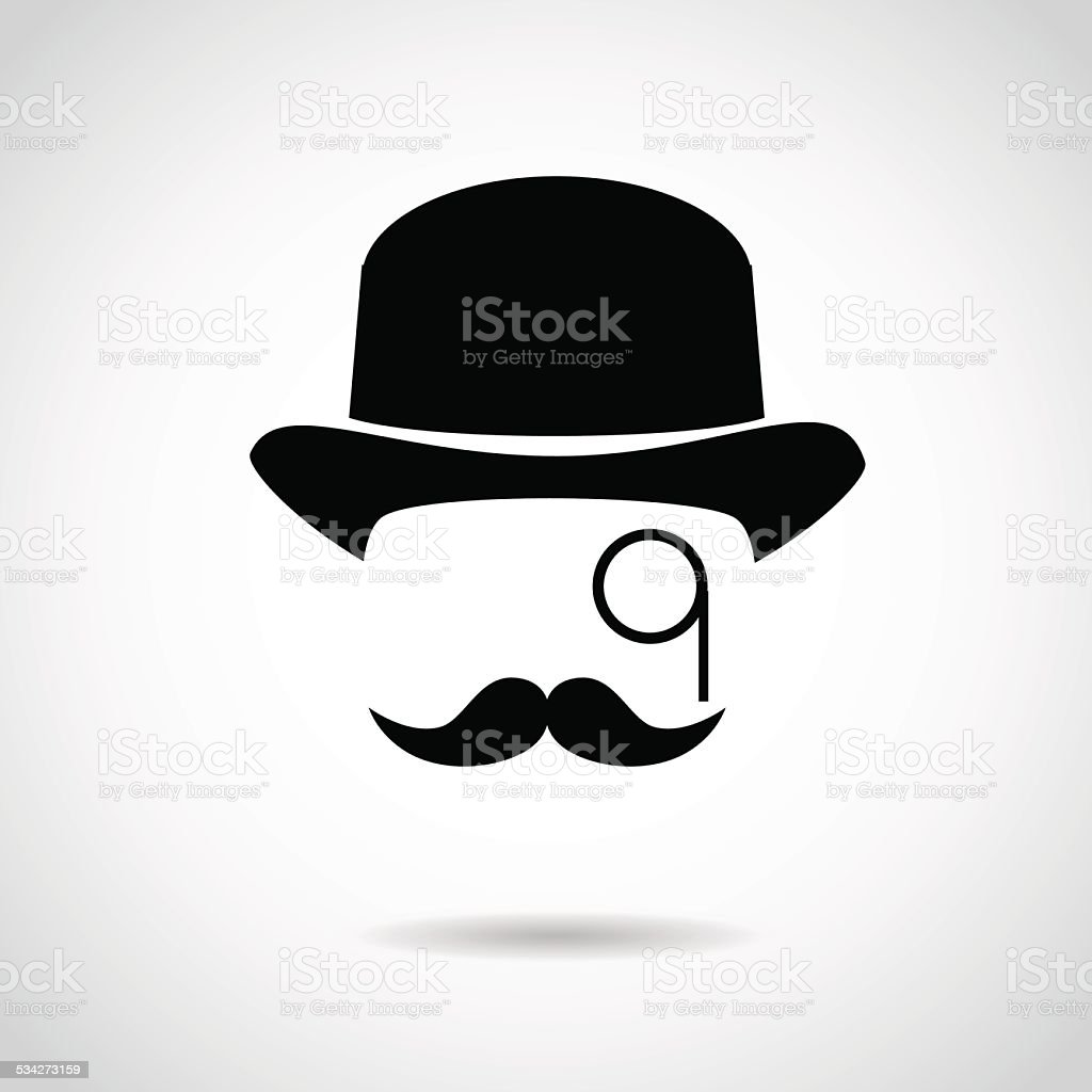 Gentleman icon isolated on white background. vector art illustration