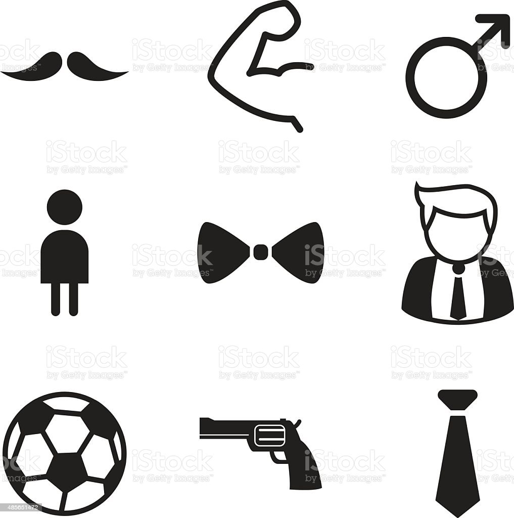 Gentleman icons Vector illustration symbol vector art illustration