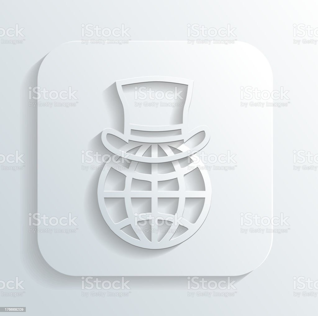 Gentleman's hat on a globe icon vector royalty-free stock vector art