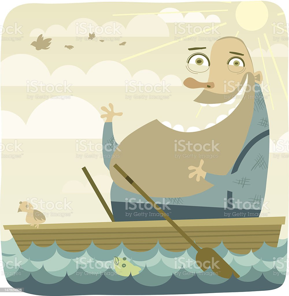 ...gently down the stream royalty-free stock vector art