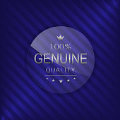 Genuine quality label