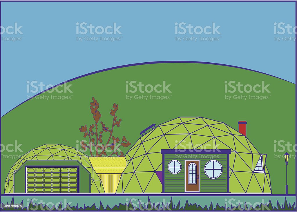 Geodesic Dome royalty-free stock vector art