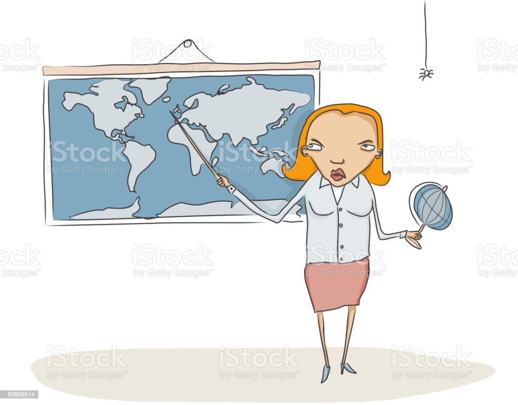 Geography teacher royalty-free stock vector art