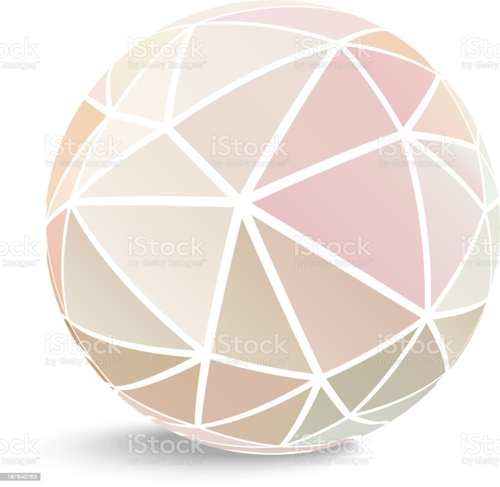 A geometric 3D ball of triangles royalty-free stock vector art