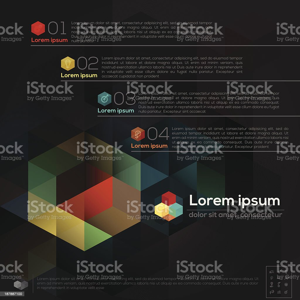 Geometric Abstract Design Layout royalty-free stock vector art