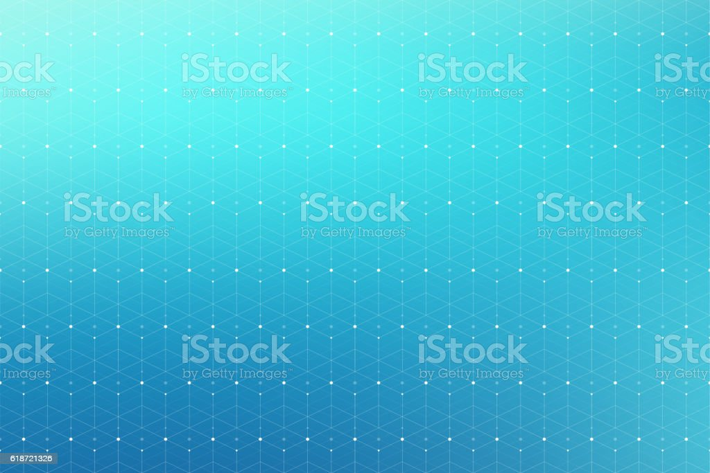 Geometric abstract pattern with connected line and dots. Vector illustration. vector art illustration