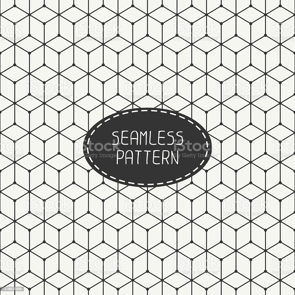 Geometric abstract seamless cube pattern with rhombuses. Wrapping paper. Background. vector art illustration