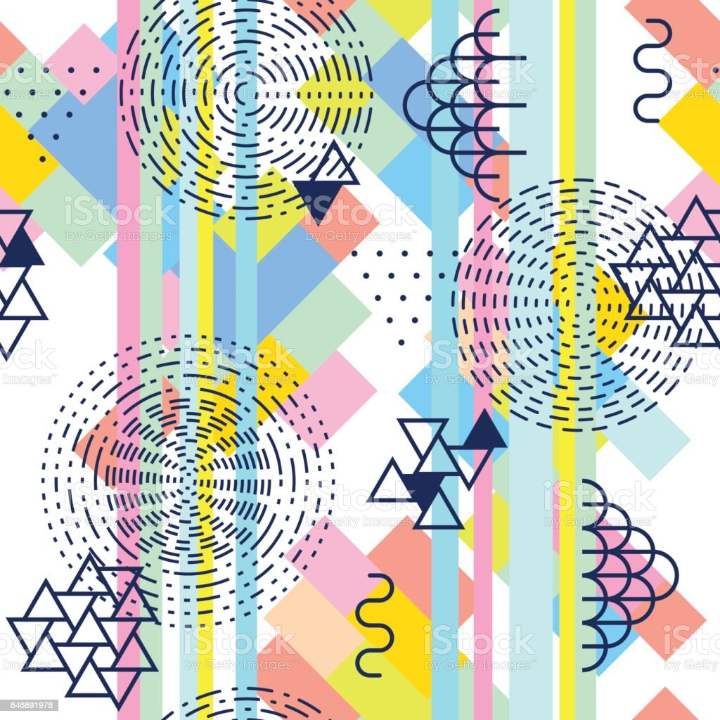 Geometric Abstract Seamless Pattern Simple Motif Background ...