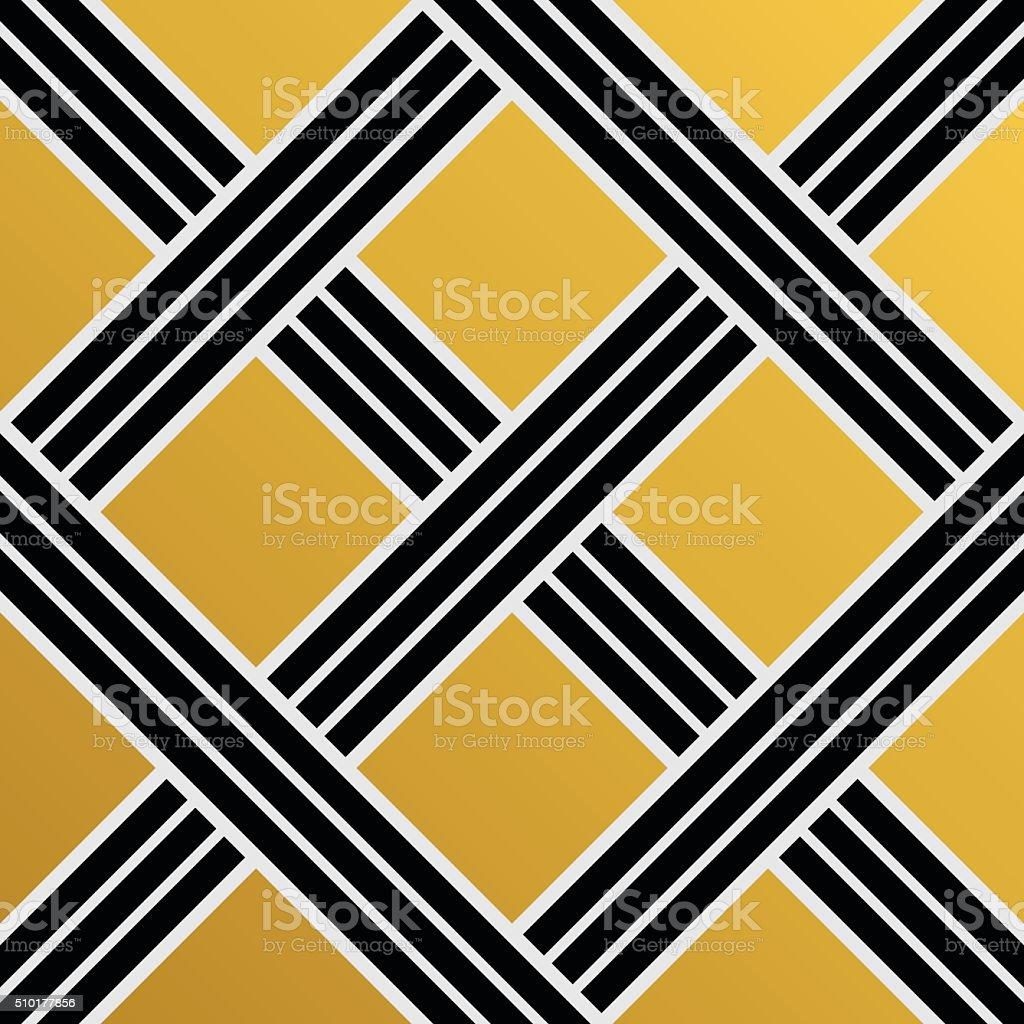 Geometric Art Deco seamless vintage decorative pattern vector art illustration