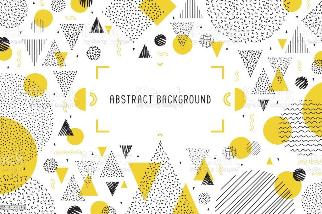 Geometric background banner vector art illustration