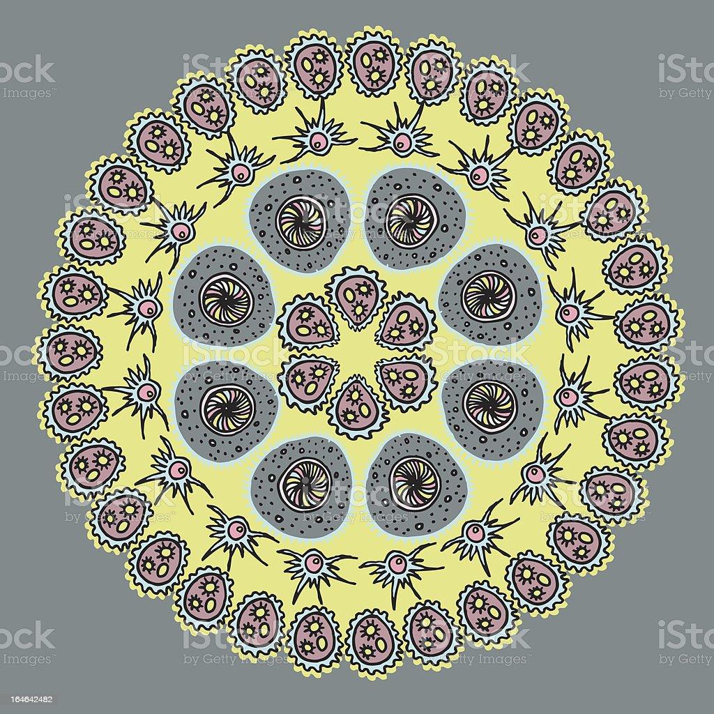 Geometric background / Circle ornament royalty-free stock vector art