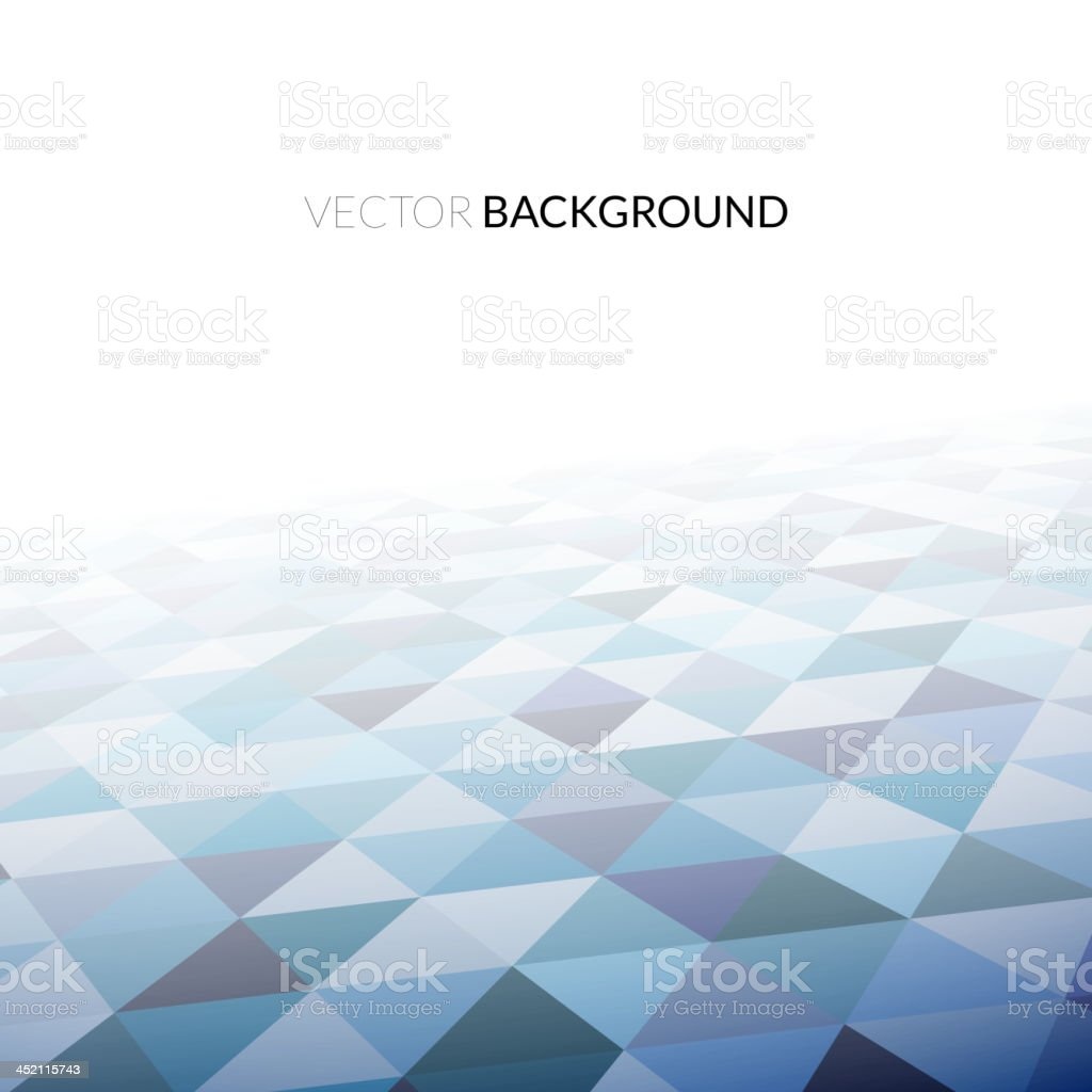 Geometric background in perspective vector art illustration